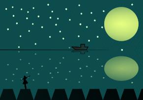 星空の背景イラスト1