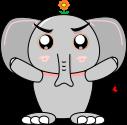 象のイラスト1