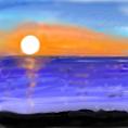 夕日のイラスト1