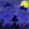 夜空のイラスト1