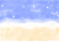 砂浜のイラスト1