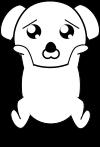 犬ポーズのイラスト1