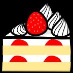 イチゴケーキのイラスト1