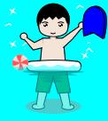 水遊びのイラスト1