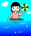 水遊びのイラスト2