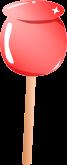 リンゴ飴のイラスト1