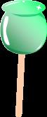 リンゴ飴のイラスト2