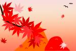 秋背景のイラスト1