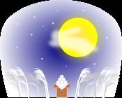 お月見のイラスト1