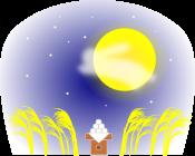 お月見のイラスト2