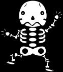 骸骨のイラスト1