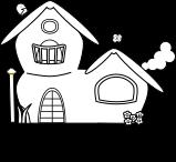 家 線画のイラスト2