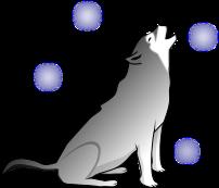 狼のイラスト1