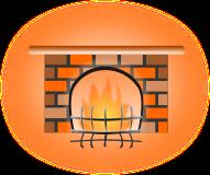 暖炉のイラスト1