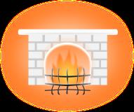 暖炉のイラスト2