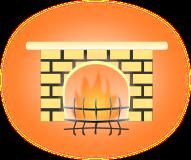 暖炉のイラスト3