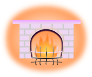 暖炉のイラスト4
