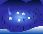 冬背景のイラスト1