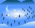 冬背景のイラスト3