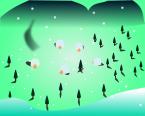 冬背景のイラスト4