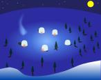 冬背景のイラスト5