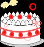 ホールケーキのイラスト1
