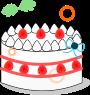 ホールケーキのイラスト2