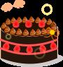 ホールケーキのイラスト3
