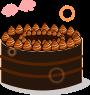 ホールケーキのイラスト4