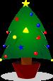 クリスマスツリーのイラスト1