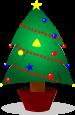 クリスマスツリーのイラスト2