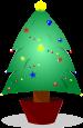 クリスマスツリーのイラスト3
