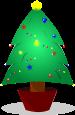クリスマスツリーのイラスト4