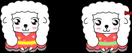 羊間違い探しのイラスト