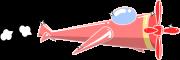 プロペラ機のイラスト2
