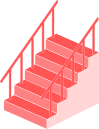 階段のイラスト1