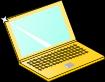 ノートパソコンのイラスト2
