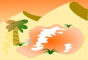 オアシス背景のイラスト2