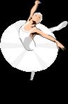 バレエダンサーのイラスト1