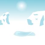 南極背景のイラスト1