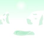 南極背景のイラスト2