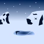南極背景のイラスト3