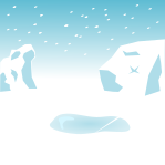 南極背景のイラスト4