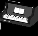 ピアノのイラスト1