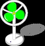 扇風機のイラスト1