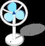 扇風機のイラスト2