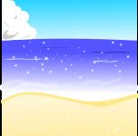 海背景のイラスト1