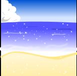 海背景のイラスト3