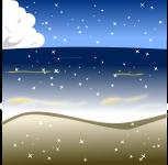 海背景のイラスト4