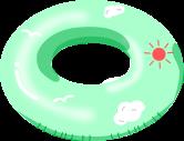 浮き輪のイラスト7